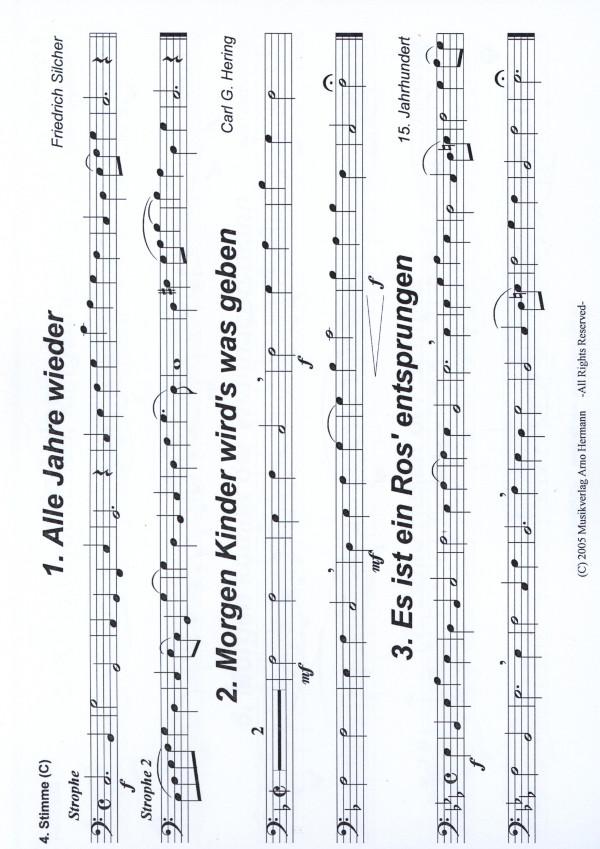 Hermann, Arno (arr.) - Internationale Weihnachtslieder - 4. Stimme ...