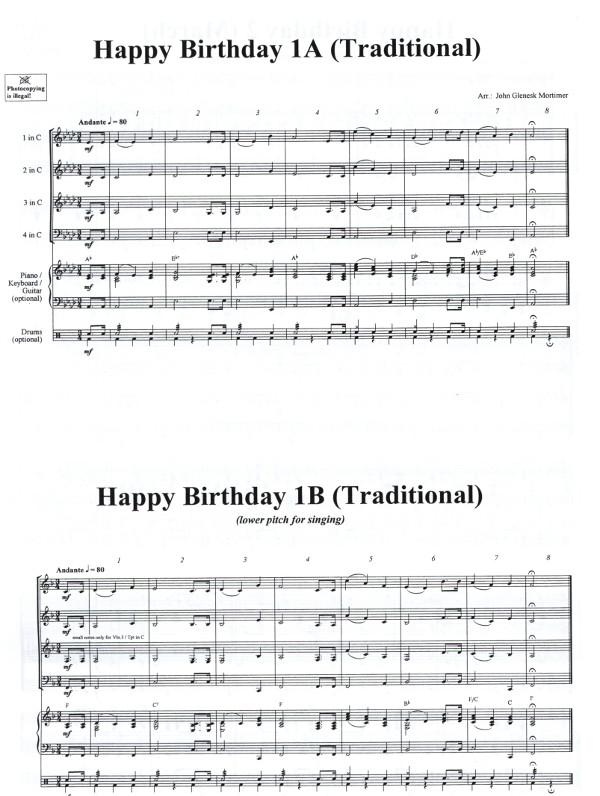 Bekannte Mortimer, John Glenesk (Arr.) - Happy Birthday für Brass Quartet  VY77