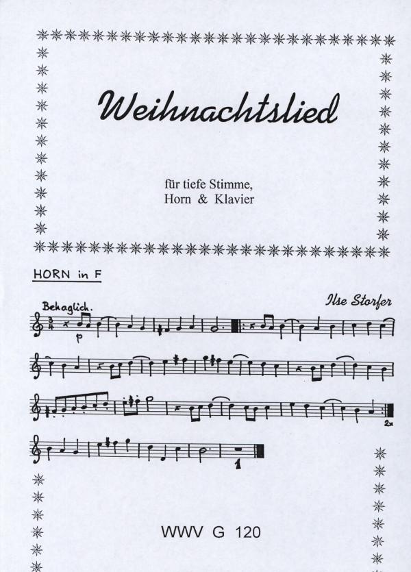 Storfer, Ilse (Blechinger) - Weihnachtslied für Alt, Horn Klavier ...