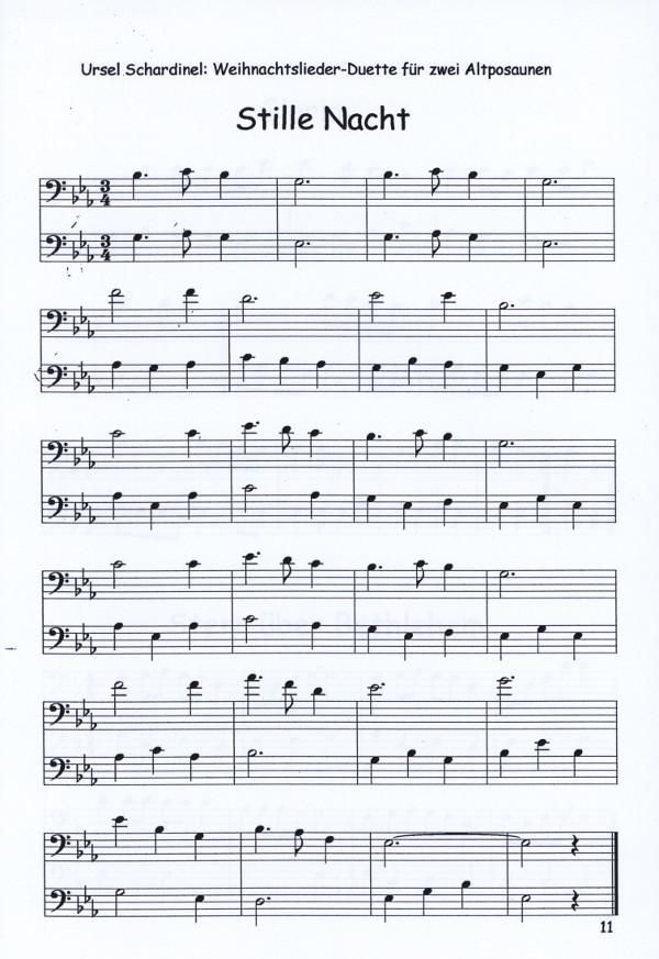 Schardinel, Ursel (arr.) - Weihnachtslieder-Duette für 2 Altposaunen ...