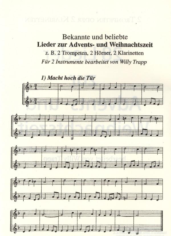 trapp willy hrsg geb 1923 bekannte und beliebte lieder zur advents und weihnachtszeit. Black Bedroom Furniture Sets. Home Design Ideas